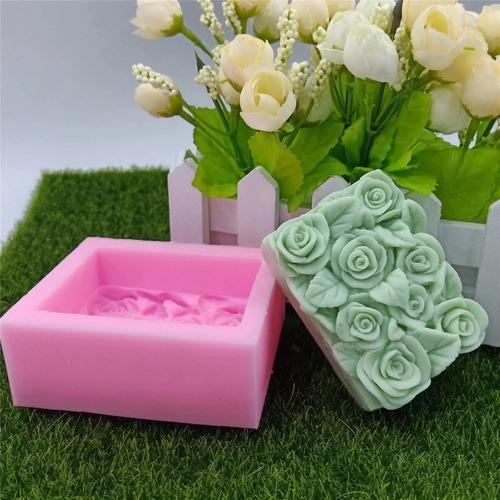 molde silicon ramo de rosas