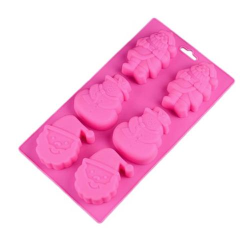 molde silicon santa claus, frosty, repostería, jabón, vela