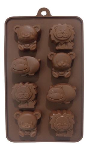 molde silicona animalitos de la selva - ciudad cotillón