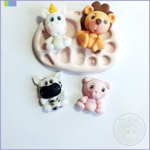 molde silicona fácil y práctico 3 cm porcelana fría zoocro 1