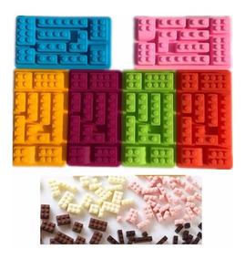 86516bda5a02 Molde Silicona Lego Fondant Chocolate Gelatina Jabones