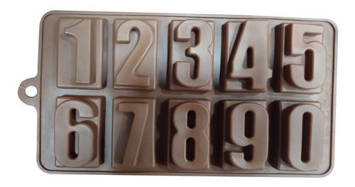 molde silicona números relieve 20,5x11cm ciudad cotillón