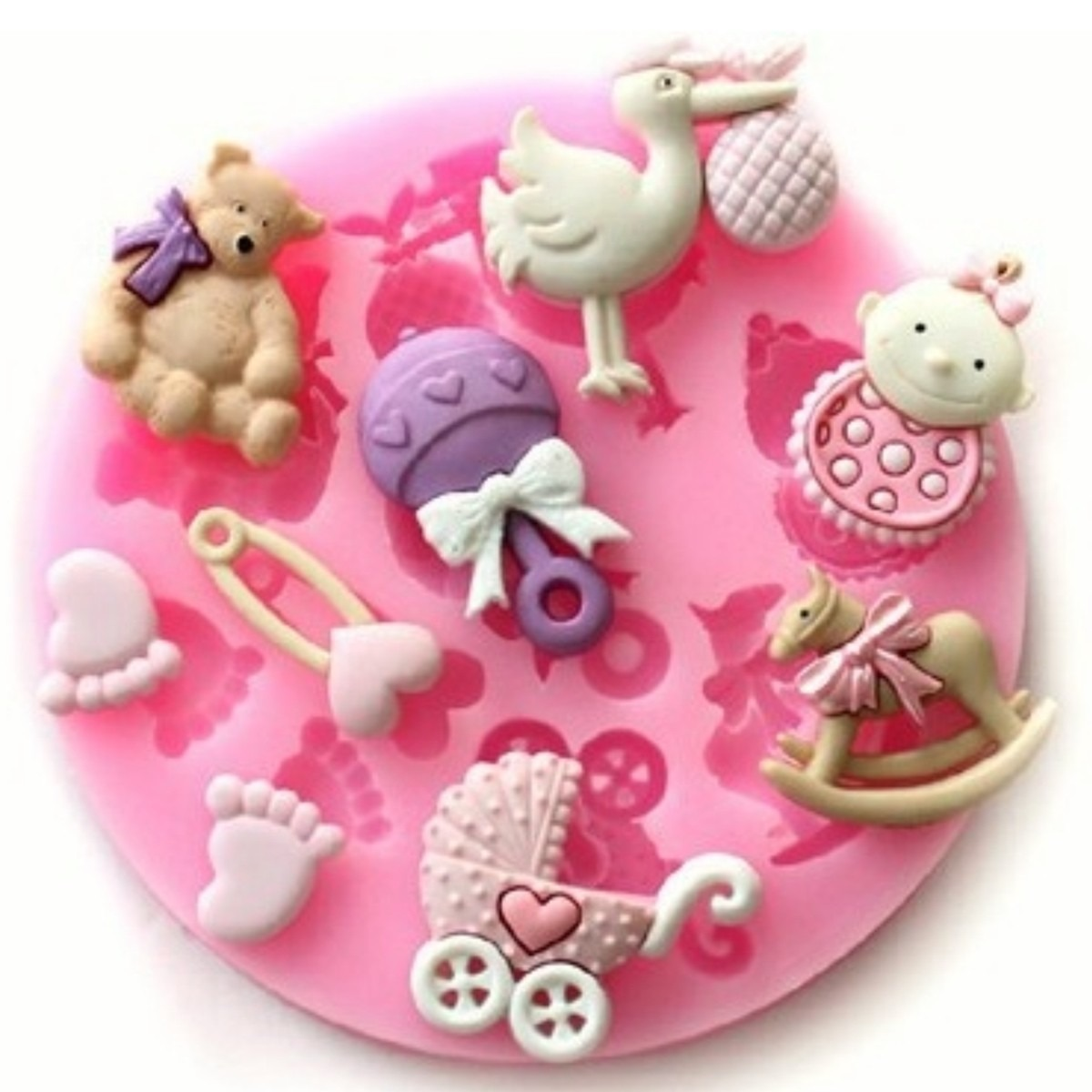 fd47af836 Molde Silicone Bebe Biscuit Pasta Americana Chocolate - R  19