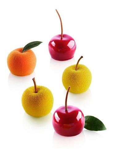 molde silikomart flex mela, ciliegia & pesca 30 / lauacu
