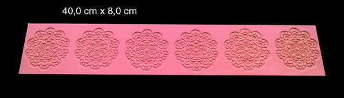 molde tapete renda de açúcar e cupcake silicone dura-flex