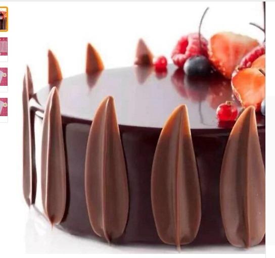 Molde Tapete Silicon Chocolate Hojas Decorar Pasteles Isomil