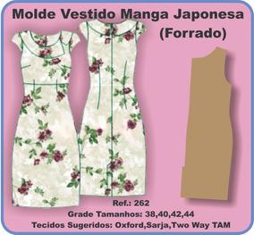 7249a32a87 Molde De Vestido Infantil Com Manga no Mercado Livre Brasil