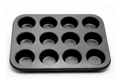 molde x 12 muffin cupcakes teflonado el mejor teflon !
