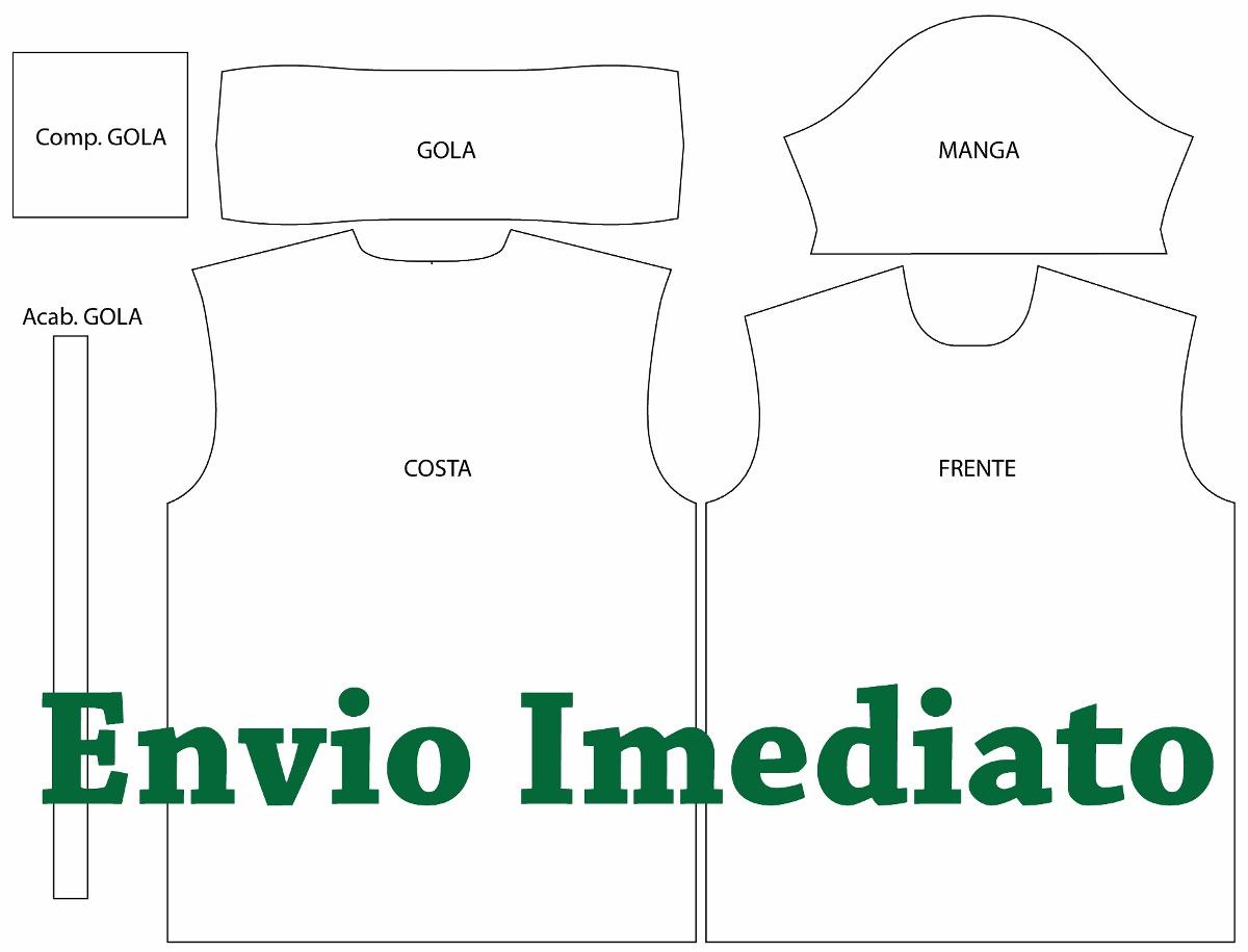 15d204e25 Molde modelagem Camisa camiseta Gola Polo Tradicional - R  45