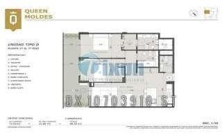 moldes 2000 2-d - belgrano c/chico/barrancas - departamentos 3 ambientes - venta