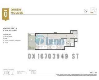 moldes 2000 7-b - belgrano c/chico/barrancas - departamentos 1 ambiente - venta