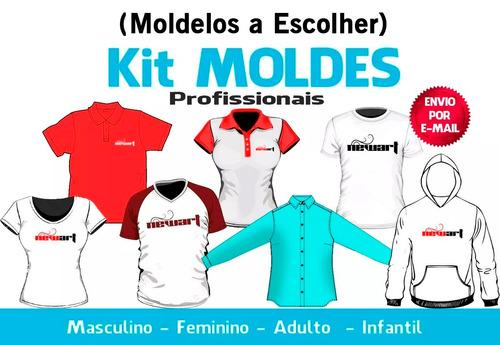 moldes a escolha (camisetas, shorts, bermudas, calças etc)