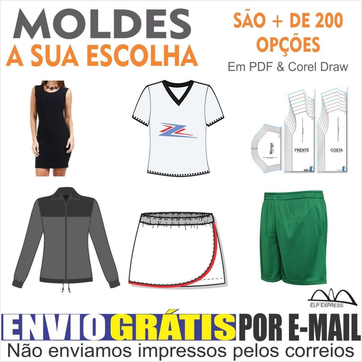 593e8538e77bb Moldes A Escolha (short