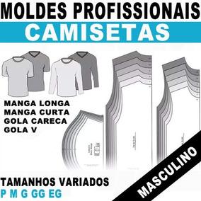 a7451f28a0 Kit Moldes Camisa Social Masculina no Mercado Livre Brasil