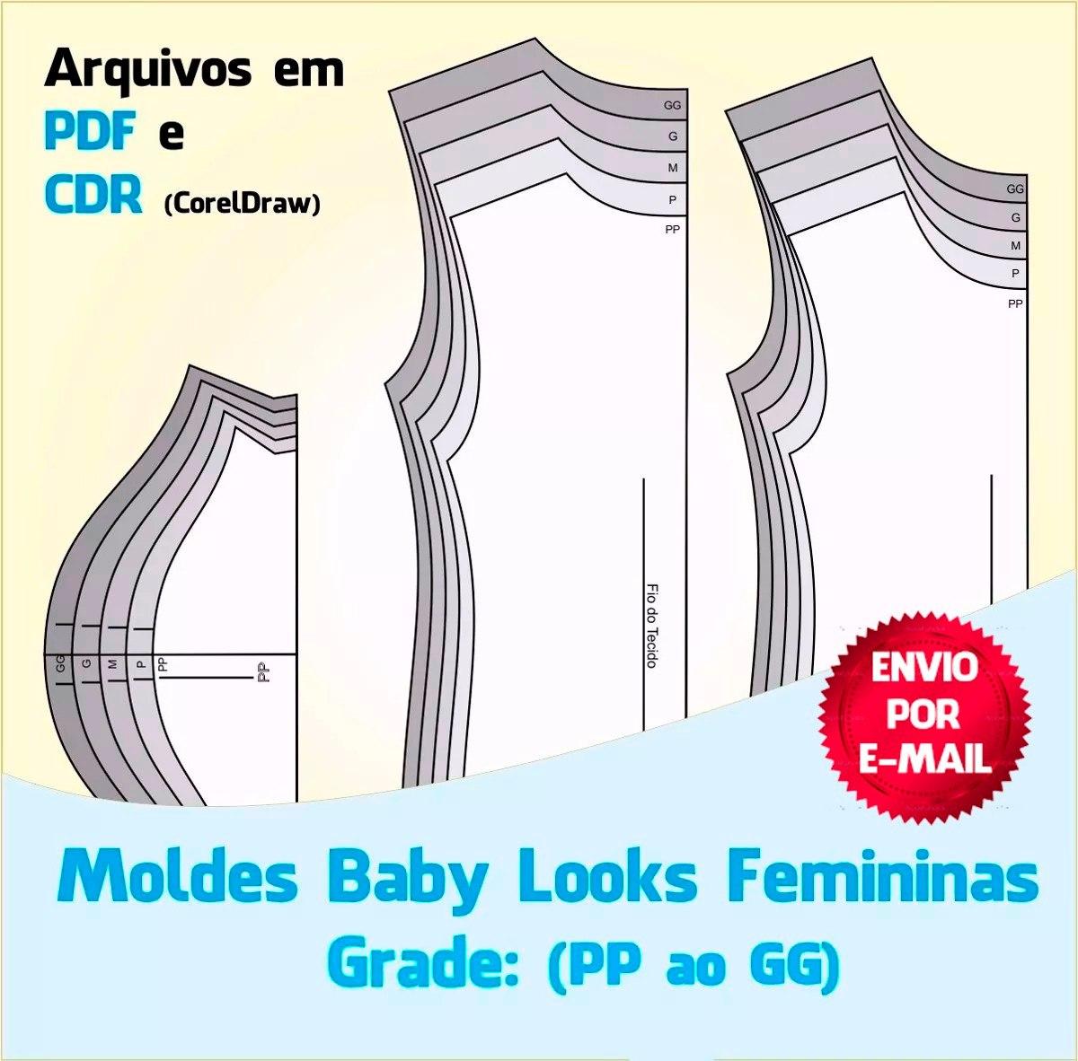 c918264600 moldes camisetas femininas (baby look). Carregando zoom.