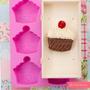 Molde Silicon Forma Cupcake/heladito Para 6 Unid