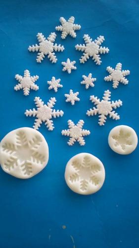 moldes copos de nieve de silicon flexible