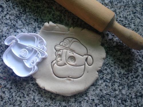 moldes cortantes galletitas paw patrol personalizados