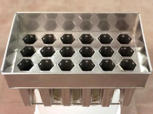 moldes de acero inoxidable para paleta de hielo hexagonal
