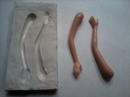 moldes de caucho de silicona super flexibles!!!!  brazos