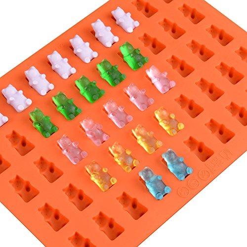 estrellas Molde para caramelos y bandeja para cubitos de hielo de silicona antiadherente con corazones Juego de 5 moldes de Moldes de silicona para chocolate conchas y osos