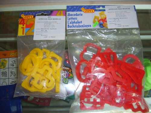 moldes de letras para utilzar con plastlina o play doh