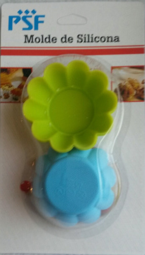 moldes de silicon ( cup cake ) de flor  psf. hogar y cocina