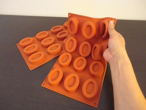 moldes de silicón jabón diy o alimentos  ovalo