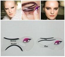 moldes delineadores 2 olho de gato/olho esfumado silicone