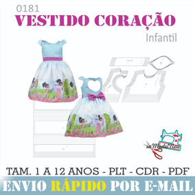 41f51d8df5 Kit Molde Vestido Infantil no Mercado Livre Brasil