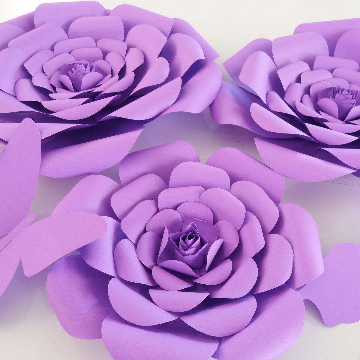 Moldes De Flores Grandes De Papel Pdf Naturallycurlye Com