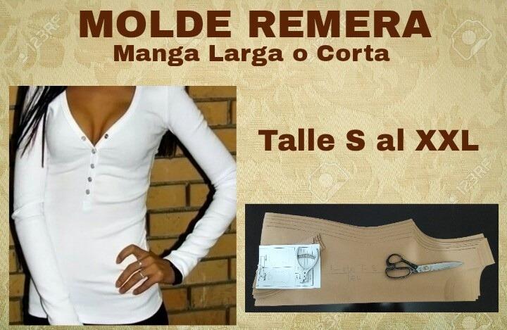 Moldes En Cartón Patrones De Ropa Remera Escote V Modelista - $ 230 ...