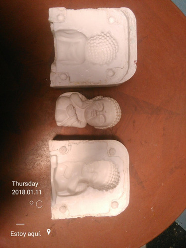 moldes / matris de budas en caucho siliconado. (los 2 moldes