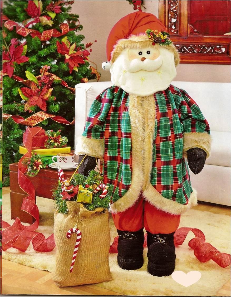 Moldes o patrones papa noel patriarca en for Muebles decorados de navidad