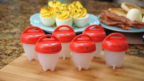 moldes para cocinar huevos silicone egg boil x 6pacs