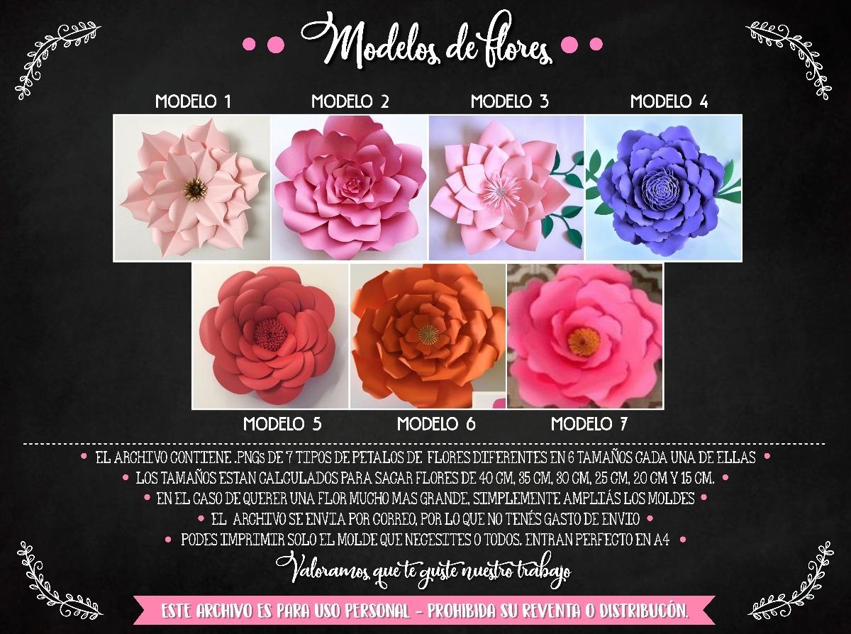 Moldes Para Flores De Papel 7 Modelos