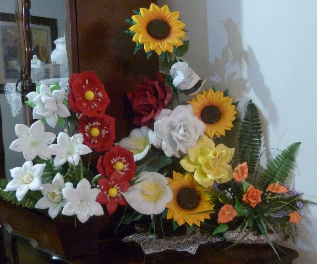 Moldes para hacer flores y figuras de fomi fomy foamy - Como hacer un centro de navidad ...