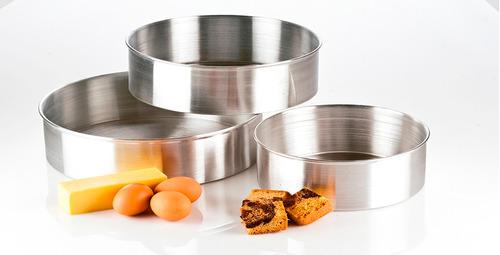 moldes para torta juego de 3 piezas de aluminio envio gratis