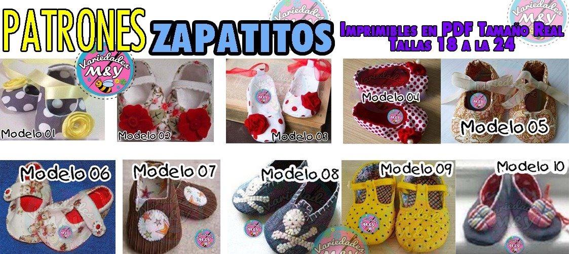 Moldes Patrón Zapatitos Bebés Niños Sandalias Tamaño Real - $ 125.00 ...