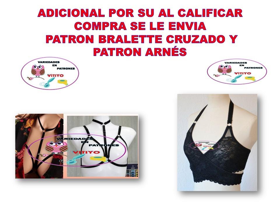 Moldes Patrónes Bralette Brassiere + Pantys Y Obsequio - Bs. 50,00 ...