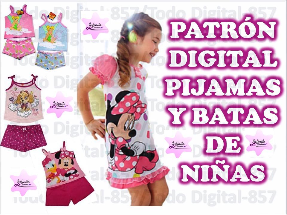 2fa898583 Moldes Patrones De Pijamas Batas Niñas Envío Gratis Pdf - Bs. 4.500 ...