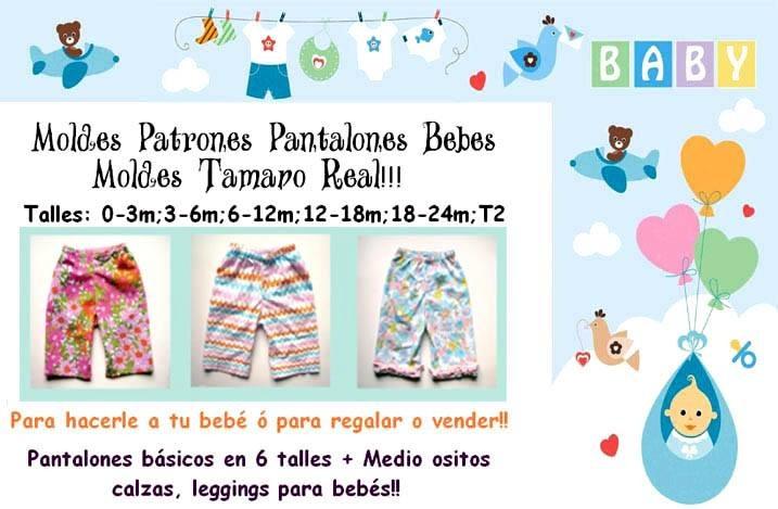 Moldes Patrones Fabrica Pantalones, Remeras Y Leggins Niños - $ 59 ...