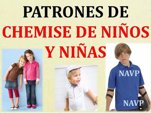 moldes patrones imprimiibles chemises niños y niñas