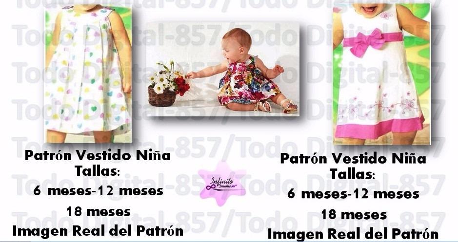 Moldes Patrones Ropa Niñas-bebes Blusas,vestidos Falda Moda - Bs. 50 ...