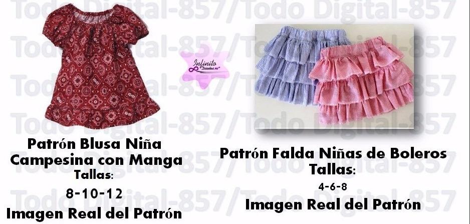 Moldes Patrones Ropa Niñas-bebes Blusas,vestidos Falda Moda ...