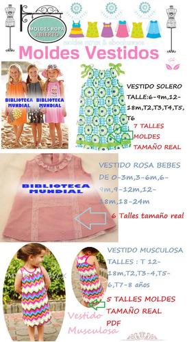 moldes patrones vestidos nenas bebes t0 al t12 envio gratis