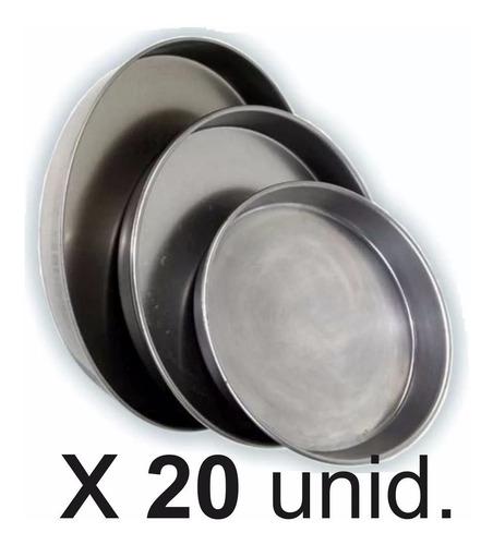 moldes pizzeros n°36 combo x20 unidades chapa doble decapada