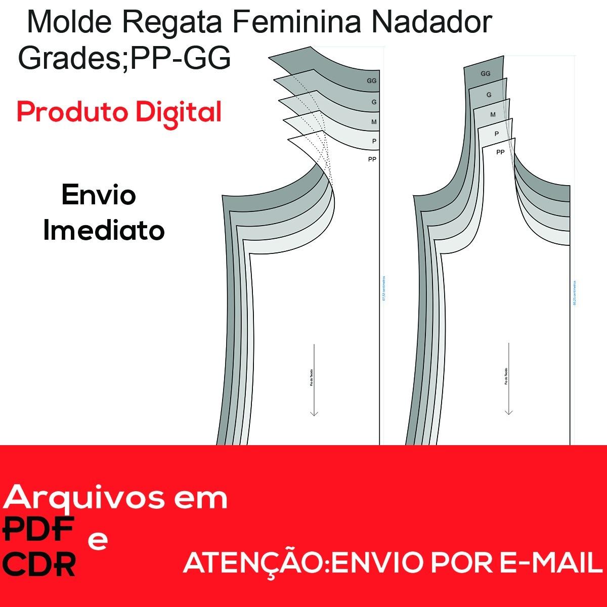 c326bb399f Moldes Regata Feminina Nadador - R  10