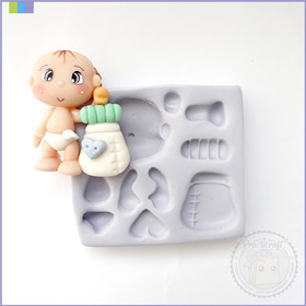 Moldes Silicona Prácticos Porcelana Fría Bebé Tete2 De 5,5cm