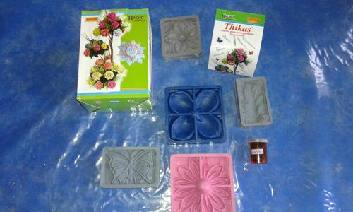 moldes tikas rosa marip.hoja etc +pigmento p/teñir goma eva